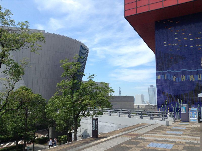 大阪文化館・天保山と海遊館