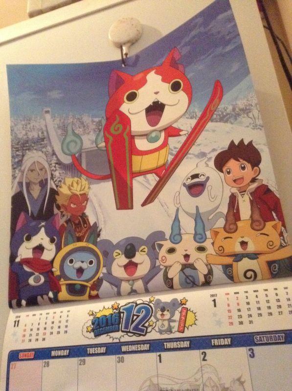 妖怪ウォッチカレンダー
